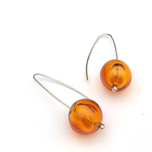 Buborék fülbevaló - borostyán