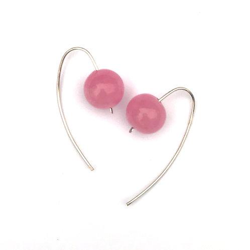 Gömb fülbevaló - cukorka rózsaszín