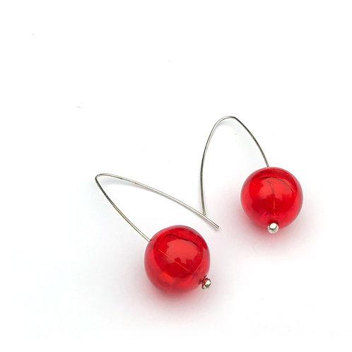 Buborék fülbevaló - naracs áttetsző