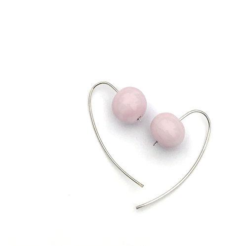 Gömb fülbevaló - rózsaszín