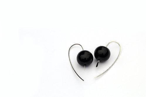 Fekete ezüst fülbevaló