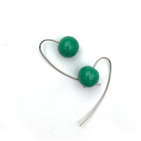 Gömb fülbevaló - zöld