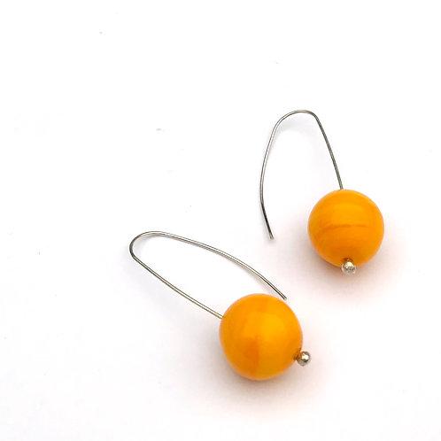 Buborék fülbevaló - sárga