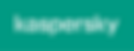 Логотип Kaspersky. Белый на зеленом (PNG