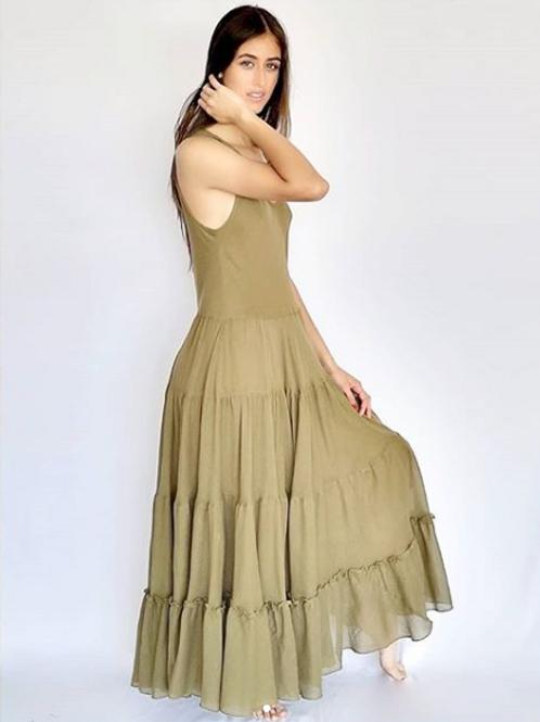 Vestido Largo Oliva