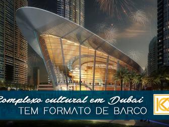Em formato de barco, complexo cultural em Dubai traz palco para grandes espetáculos