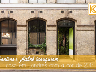 Pantone e Airbnb inauguram casa em Londres com a cor de 2017