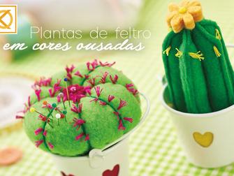Plantas de feltro em cores ousadas são item de decoração inesperado