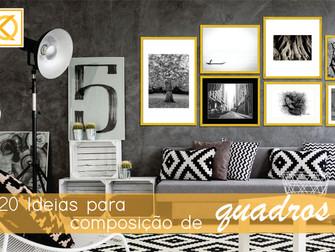 20 Ideias para composição de quadros