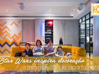 Star Wars inspira decoração minimalista de apartamento