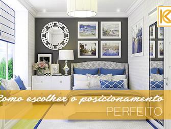 Como escolher o posicionamento perfeito  ao pendurar um quadro acima da cama