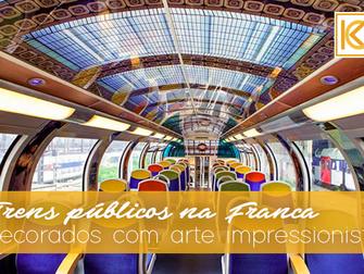 Trens públicos da França são decorados com arte impressionista