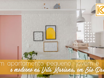 Um apartamento pequeno, jovem e moderno na Vila Mariana,  em São Paulo