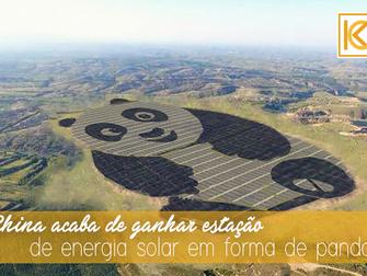 China acaba de ganhar estação de energia solar em forma de panda