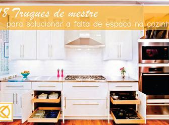 18 Truques de mestre para solucionar a falta de espaço na cozinha