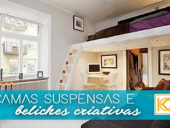 Solução para ambientes pequenos: camas suspensas e beliches criativas