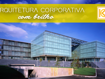 Arquitetura corporativa com brilho