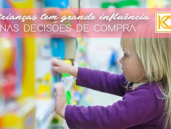 Crianças têm grande influência nas decisões de compra