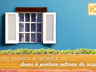 Como prevenir e remediar os danos à pintura externa da casa