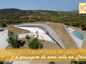 Esta casa subterrânea mudou a paisagem de uma vila na Grécia
