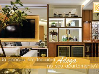 Já pensou em ter uma adega no seu apartamento?