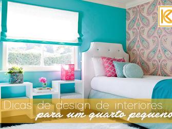 5 dicas de design de interiores para um quarto pequeno