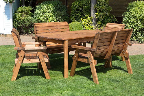 6 Seater Garden Set (Solid Wood)