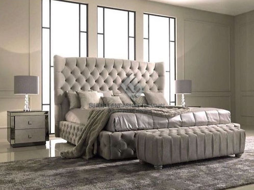 DELUXE CHESTERFIELD FRAME BED