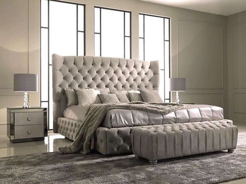 Deluxe Chesterfield Ottoman Storage Bed
