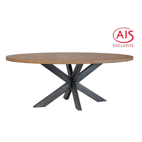 2m Round Wooden Dining Table