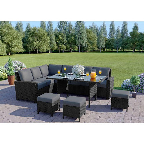 9 Seater - Rattan Garden Set with Table