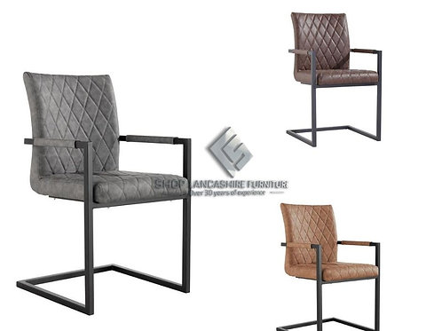 Cross Design Arm Chair