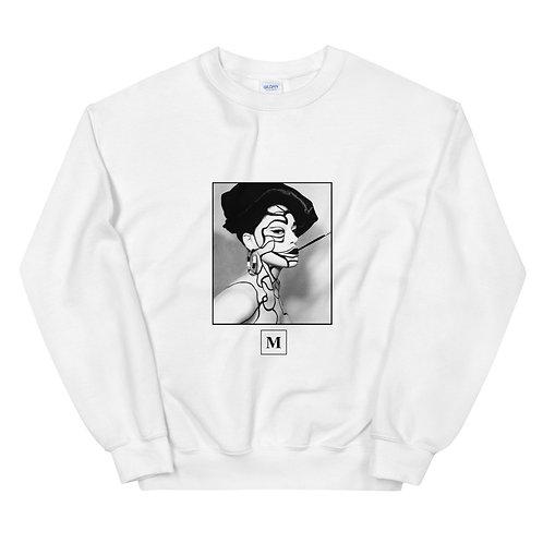 Marie Unisex Sweatshirt w/ Brush Detail on back