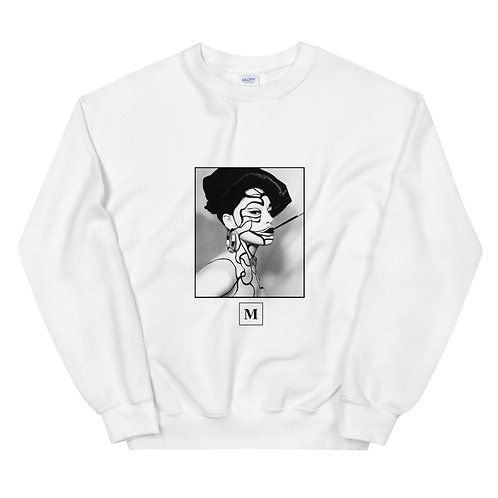 Marie Unisex Sweatshirt w/ Brush Detail on back