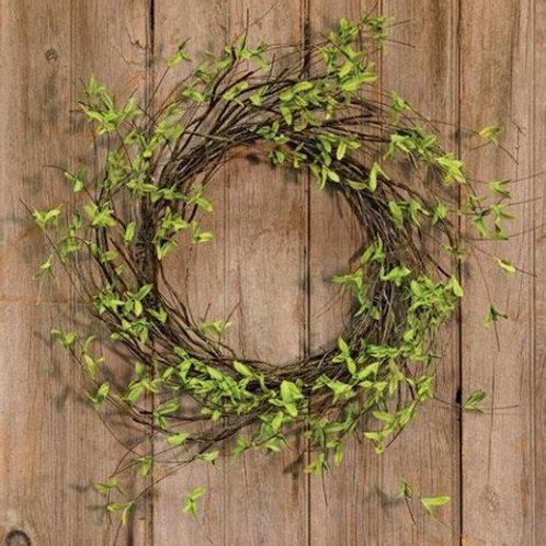 24 Inch Twig and Leaf Wreath
