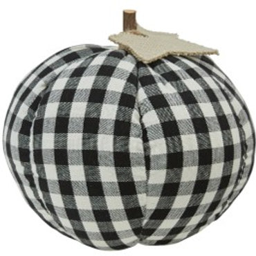Black & Cream Buffalo Check Pumpkin