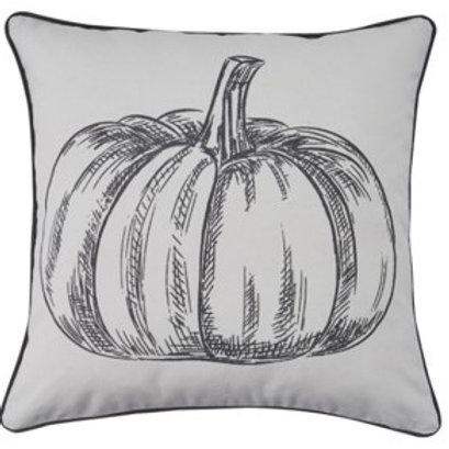 """20"""" Pumpkin Print Pillow"""