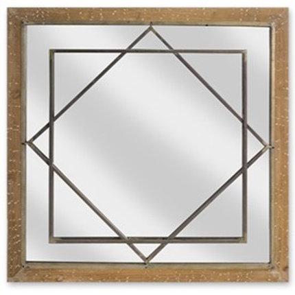 Overlapping Diamond Wall Mirror