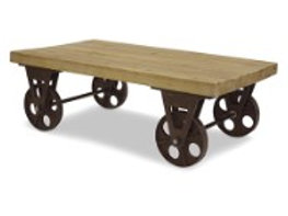 """47.5"""" Cart Table with Wheels"""