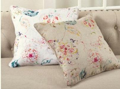 Printed Floral Design Pillow