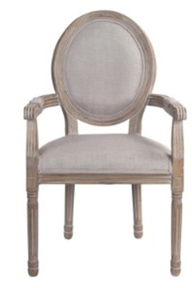Upholstered Captain's Chair - Set of 2