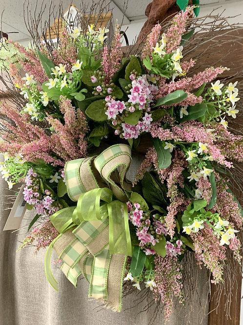 Pink Heather Wreath