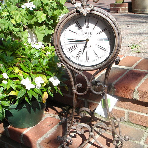 "25"" Victorian Metal Table Clock"