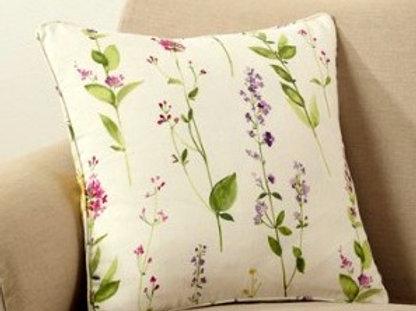 Watercolor Floral Stems Pillow