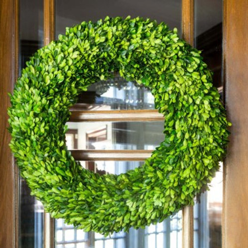 Preserved Boxwood Wreath, Large