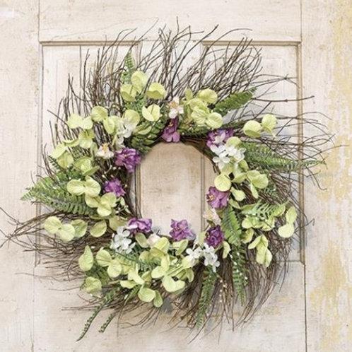 Mixed Wildflower Sunburst Wreath