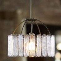 Bohemian Iron and Glass Chandelier