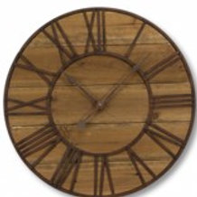 Round Roman Numeral Wall Clock