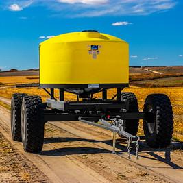 liquid fertilizer row tracker trailer
