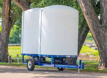 Cone Bottom Liquid Fertilizer Storage Trailers